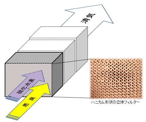 硫化水素除去の脱硫脱臭メカニズム